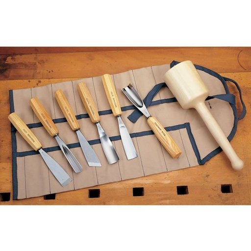View a Larger Image of Carving Tool Set - Sculpter's Full Size - 8 Piece