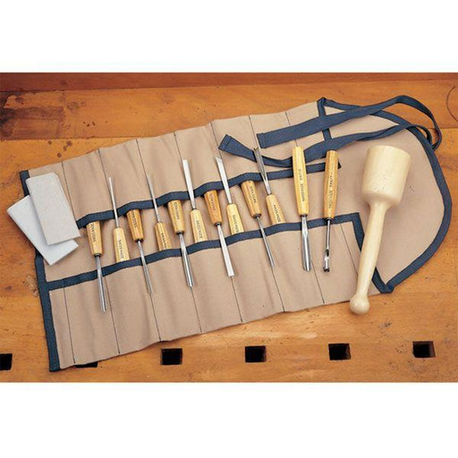 View a Larger Image of Carving Tool Set - Intermediate Size- 16 Piece