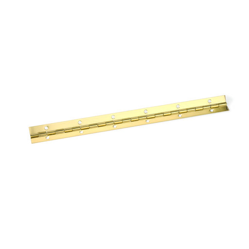 """View a Larger Image of Piano Hinge Brass Plated 1-1/16"""" x 48"""""""
