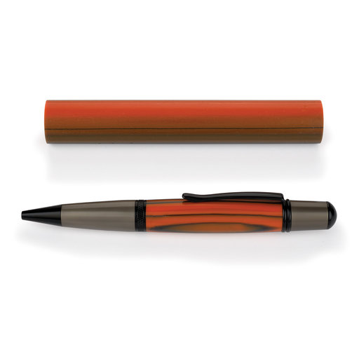 View a Larger Image of Poly Resin Pen Blank - Tiger Stripes