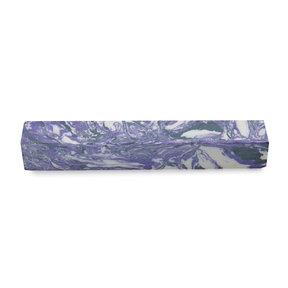 """Polyag Pen Blank - 3/4"""" x 3/4"""" x 5"""" - Purple Black & White"""