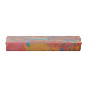 """Polyag Pen Blank - 3/4"""" x 3/4"""" x 5"""" - Rainbow"""