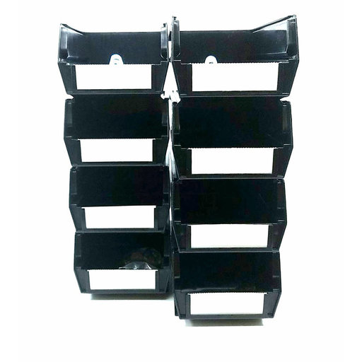 View a Larger Image of Polypropylene Black Hanging Bin & BinClip Kits, 8 CT