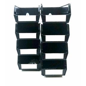 Polypropylene Black Hanging Bin & BinClip Kits, 8 CT