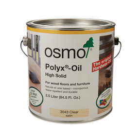 Polyx-Oil Clear 3043 Solvent Based - Satin Clear - 2.5 Liter