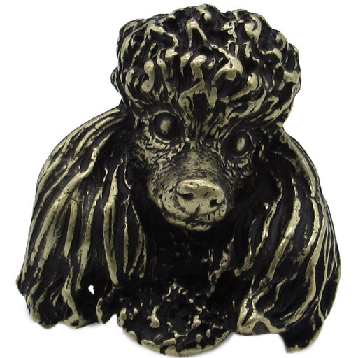 View a Larger Image of Poodle Knob Brass Oxide