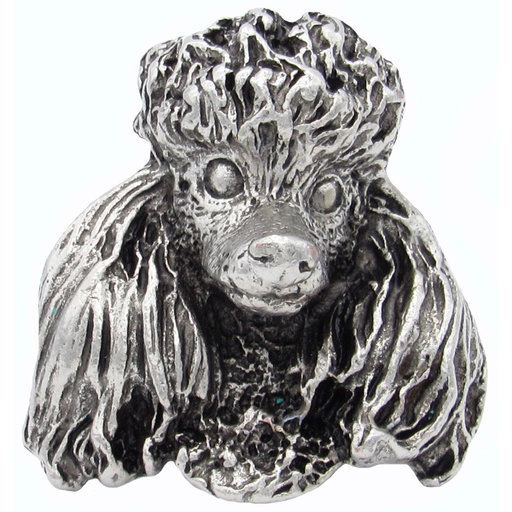 View a Larger Image of Poodle Knob Pewter Oxide