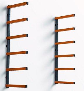 Six-Shelf Wood Rack