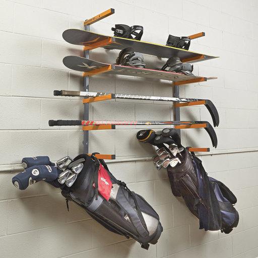 View a Larger Image of Six-Shelf Wood Rack