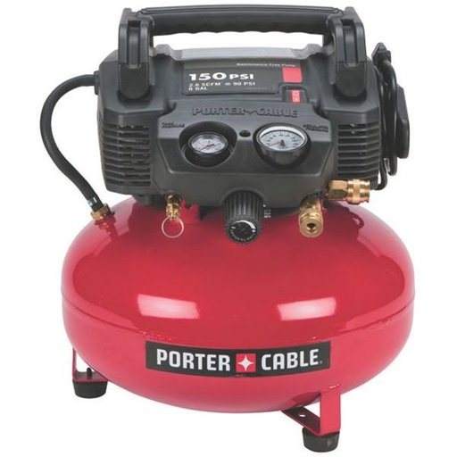 View a Larger Image of 4/5HP 6 Gallon Oil-Free Pancake Air Compressor