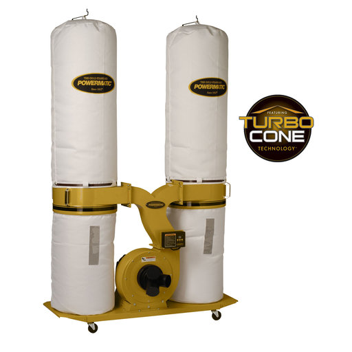 View a Larger Image of TurboCone Dust Collector, 3HP 1PH 230V, 30-Micron Bag Filter Kit, Model PM1900TX-BK1