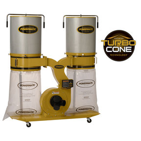 TurboCone Dust Collector, 3HP 3PH 230/460V, 2-Micron Canister Kit, Model PM1900TX-CK3