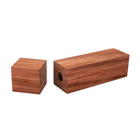 """Mahogany, African Pre-Drilled Peppermill Blank - 3"""" x 3"""" x 11-3/4"""""""