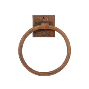 """10"""" Hand Hammered Full Size Bath Towel Ring"""