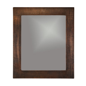 """36"""" Hand Hammered Rectangle Mirror"""