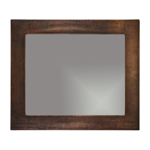 """View a Larger Image of 36"""" Hand Hammered Rectangle Mirror"""