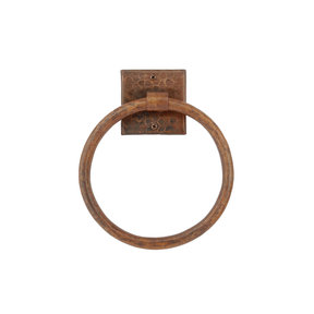 """7"""" Hand Hammered Towel Ring"""