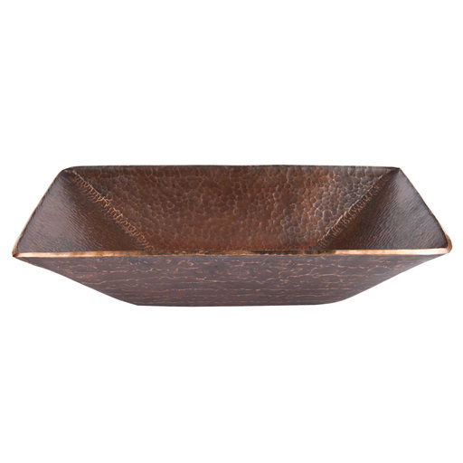 View a Larger Image of Modern Rectangle Hand Forged Old World Copper Vessel Sink, Faucet and Accessories Package, Oil Rubbed Bronze