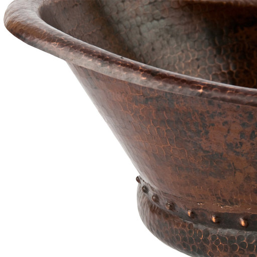 View a Larger Image of Bath Tub Vessel Hammered Copper Sink, Faucet and Accessories Package, Oil Rubbed Bronze