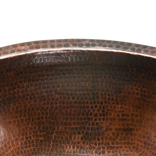 View a Larger Image of Oval Under Counter Hammered Copper Bathroom Sink, Faucet and Accessories Package, Oil Rubbed Bronze
