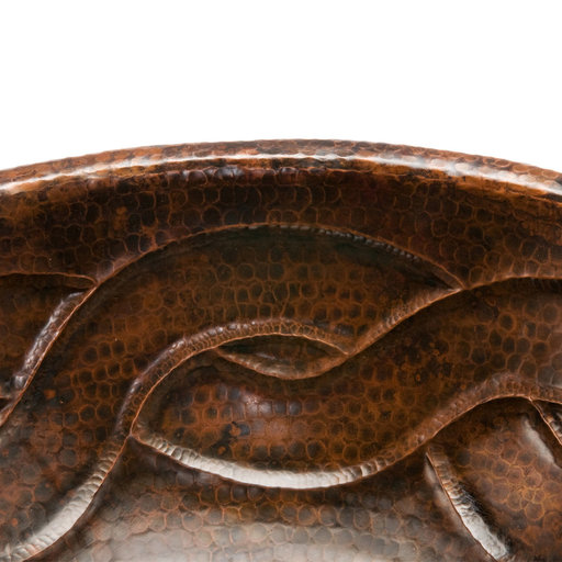 View a Larger Image of Oval Braid Self Rimming Hammered Copper Sink, Faucet and Accessories Package, Oil Rubbed Bronze