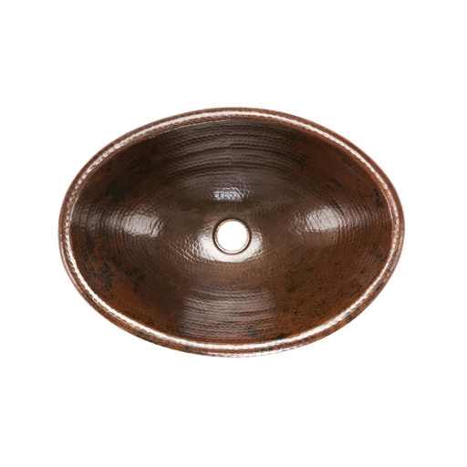 View a Larger Image of Oval Self Rimming Hammered Copper Sink, Faucet and Accessories Package, Oil Rubbed Bronze