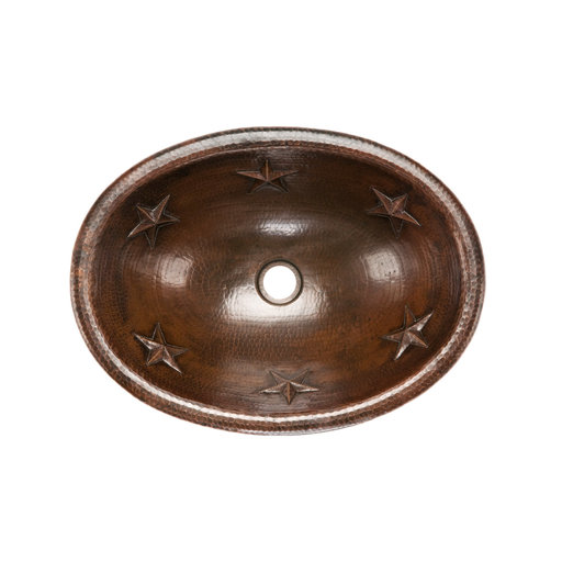 View a Larger Image of Oval Star Self Rimming Hammered Copper Sink, Faucet and Accessories Package, Oil Rubbed Bronze