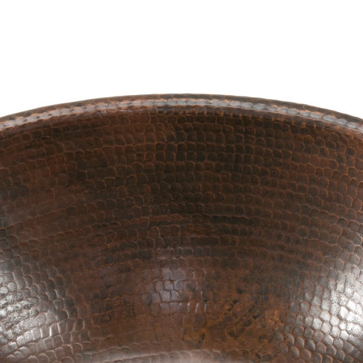 View a Larger Image of Small Oval Self Rimming Hammered CopperSink, Faucet and Accessories Package, Oil Rubbed Bronze