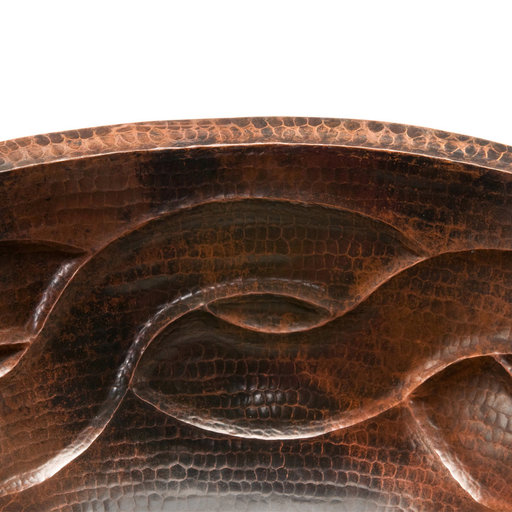 View a Larger Image of Oval Braid Under Counter Hammered Copper Sink, Faucet and Accessories Package, Oil Rubbed Bronze