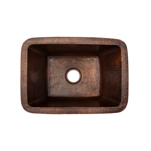 View a Larger Image of Rectangle Copper Bar Sink with 2 inch Drain Size, Faucet and Accessories Package, Oil Rubbed Bronze