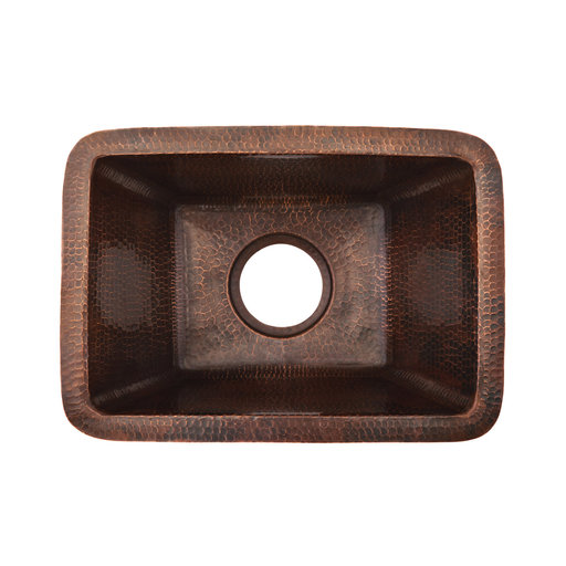 View a Larger Image of Rectangle Copper Prep Sink with 3.5 inch Drain Size, Faucet and Accessories Package, Oil Rubbed Bronze