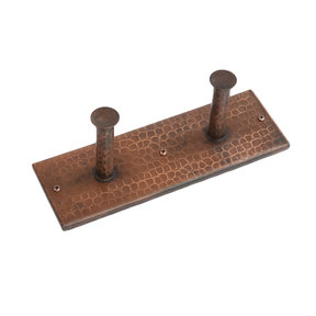 Hand Hammered Double Robe Hook