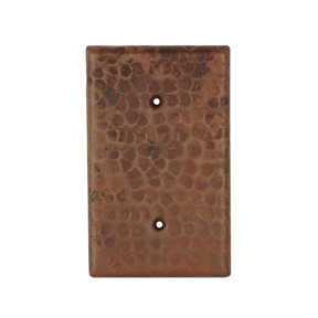 Hand Hammered Switchplate Cover, Two Hole