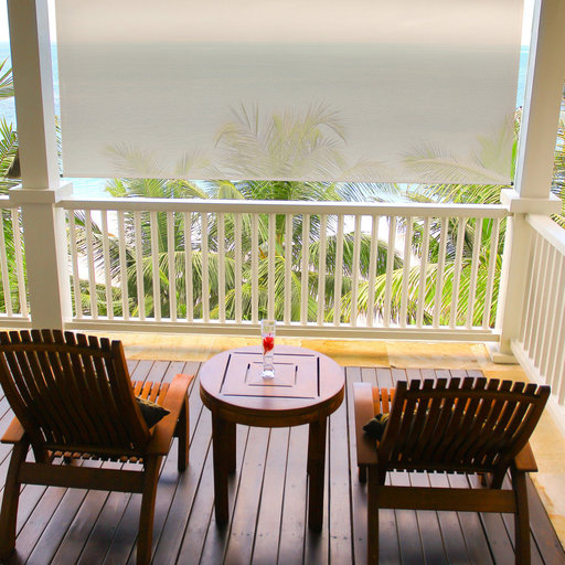 View a Larger Image of Premier Cordless Outdoor Sun Shade, 10' W x 8' L, Maple