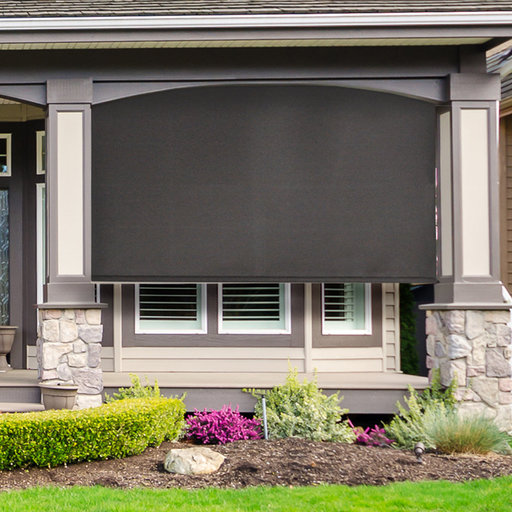 View a Larger Image of Premier Cordless Outdoor Sun Shade, 4' W x 8' L, Mahogany