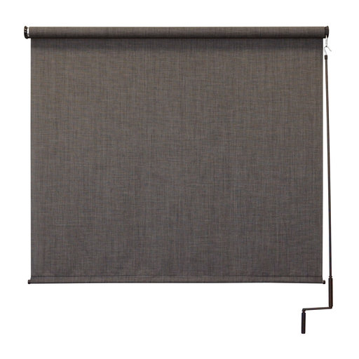View a Larger Image of Premier Cordless Outdoor Sun Shade, 6' W x 8' L, Pepper
