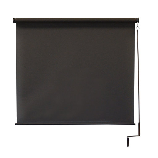 View a Larger Image of Premier Cordless Outdoor Sun Shade, 7' W x 8' L, Mahogany