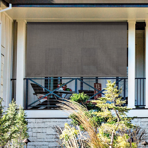 View a Larger Image of Premier Cordless Outdoor Sun Shade, 7' W x 8' L, Pepper