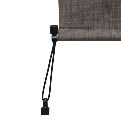 View a Larger Image of Premier Cordless Outdoor Sun Shade, 8' W x 8' L, Pepper