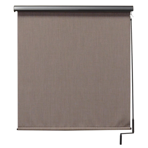 View a Larger Image of Premier Cordless Outdoor Sun Shade with Protective Valance, 10' W x 8' L, Sandstone