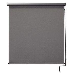 Premier Cordless Outdoor Sun Shade with Protective Valance, 4' W x 8' L, Elder