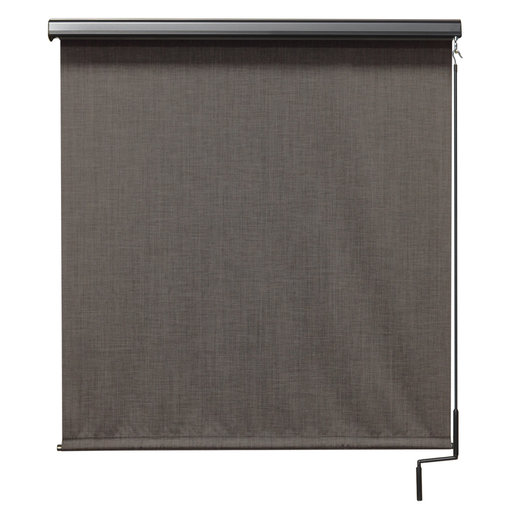 View a Larger Image of Premier Cordless Outdoor Sun Shade with Protective Valance, 6' W x 8' L, Pepper