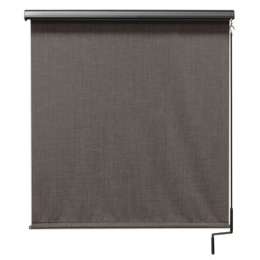 Premier Cordless Outdoor Sun Shade with Protective Valance, 6' W x 8' L, Pepper