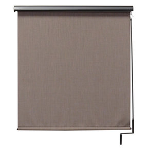Premier Cordless Outdoor Sun Shade with Protective Valance, 6' W x 8' L, Sandstone