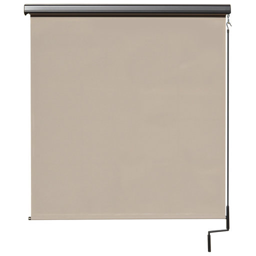View a Larger Image of Premier Cordless Outdoor Sun Shade with Protective Valance, 7' W x 8' L, Maple