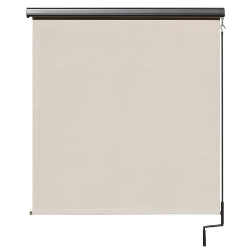 View a Larger Image of Premier Cordless Outdoor Sun Shade with Protective Valance, 8' W x 8' L, Palm