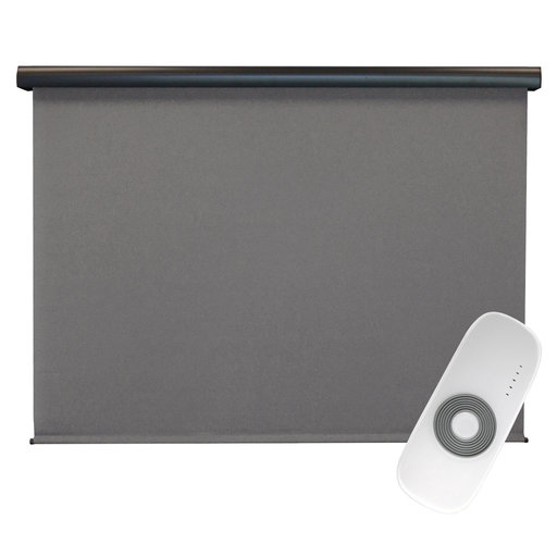 View a Larger Image of Premier Rechargeable Motorized Outdoor Sun Shade with Protective Valance, 4' W x 8' L, Elder