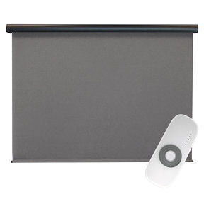 Premier Rechargeable Motorized Outdoor Sun Shade with Protective Valance, 6' W x 8' L, Elder