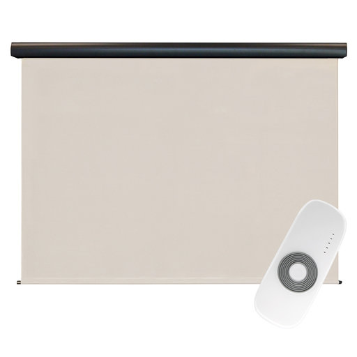 View a Larger Image of Premier Rechargeable Motorized Outdoor Sun Shade with Protective Valance, 7' W x 8' L, Palm