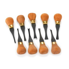 Premium Deluxe Palm Handled Carving Tool Set - 9 Piece